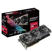 ASUS 华硕 Radeon RX 580 ROG STRIX Gaming OC 8 GB GDDR5 DP / HDMI / DVI-D显卡 - 黑色