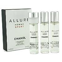 Chanel 香奈儿 Chanel 魅力男士运动淡香水旅行喷雾补充装( 3支补充装 ) 3x20ml/0.7oz