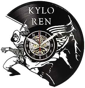 Everyday Arts Kylo Ren 虚构角色乙烯基挂钟 Annivesray 礼物创意现代礼物送给他朋友青少年
