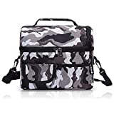PuTwo 午餐袋大容量适用于隔热保温袋午餐盒带可调节肩带