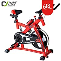 室内静音动感单车家用健身车红色