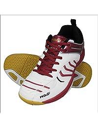 WAGI 打蜡 羽毛球鞋 超轻款 颜色:*红色 23~28cm
