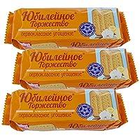 10袋 甜蜜农庄 俄罗斯进口 饼干 120g/袋 休闲零食 (香草庆典饼干)