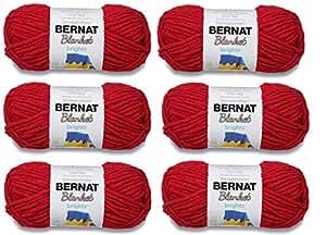 Bernat 毛毯纱(6 件装)超厚 #6 5.3 盎司 108 码 赛车红色 Blanket Yarn 6-Pack