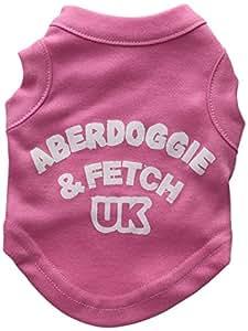 Mirage Pet Products 8 英寸阿伯犬英国丝网印花衬衫,XS 码 亮粉色 XS
