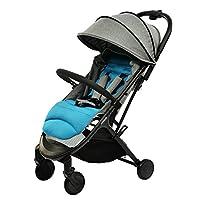 德国品牌 hauck 婴儿推车-swift蓝灰色(免安装/可上飞机)(亚马逊自营商品,由供应商配送)