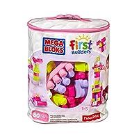 MEGA 美高 拼搭玩具 费雪美高大袋装积木80片粉色(新老包装随机发货)