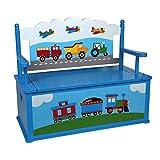 Olive Kids Trains, Planes, Trucks Toy Box Bench