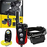 Dogtra IQ Plus + 远程训练项圈 - 400 码范围,防水,可充电,震动,包含 PetsTEK 狗狗训练搭扣