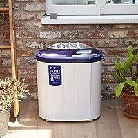 CB Japan 洗衣机 白色 55厘米×36厘米×57.5厘米 小型 双层式 不锈钢脱水槽 My second laundry hyper comtool