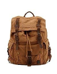 drf 帆布背包男式背包钱包复古适用于旅行14.1英寸笔记本电脑 bg-09