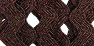 Wrights 117-401-092 Polyester Rick Rack Trim, Seal Brown, Medium, 2.5-Yard