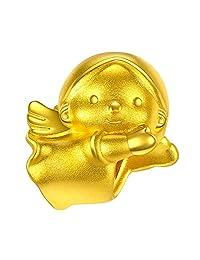 潮宏基 天使-女宝宝 3D 黄金足金挂坠吊坠串珠 CP0001387400Y定价(亚马逊自营商品, 由供应商配送)