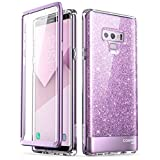 三星 Galaxy Note 9 手机壳,【内置屏幕保护膜】i-Blason 【Cosmo】全机壳闪光防撞保护套适用于 Galaxy Note 9(2018 版)Galaxy-Note9-Cosmo-SP-Purple 紫色