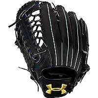 安德玛(UNDER ARMOUR) 软式棒球用 左投外野手用 男士 1341873 黑色 30.5cm