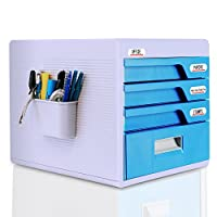 serenelife 办公桌面收纳盒抽屉橱柜锁–家庭桌面文件收纳盒 w/4Locking drawers ,非常适合 filing & 整理纸文档,工具,儿童工艺用品–( slfcab20)
