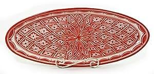 Le Souk Ceramique Nejma Design Oval Platters, X-Large