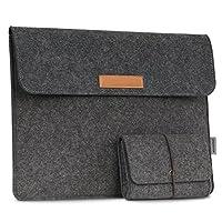 美国MoKo 13.3英寸内胆包 毛毡包 苹果Apple Macbook Pro 13.3 Inch /微软Surface Book & Surface Laptop 13.5英寸 / 联想ThinkPad New S2 13.3英寸平板笔记本电脑包 保护套 深灰色(赠电源包)