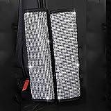 MLOVESIE 2 件装皮革*带肩垫带有水晶闪亮水钻,适合女孩佩戴 MLT1801-1 sbc
