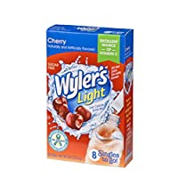 Wyler's Light 单打粉末,混合饮料,樱桃味,96份(12包),0.41盎司,11.6克