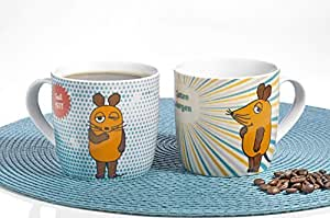Esmeyer 302-088 鼠标咖啡杯,瓷器,彩色