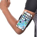 WANPOOL 苹果 iPhone 6 Plus - iPhone 7 Plus - iPhone 8 Plus 三星SAMSUNG 手机臂包 手机支架 运动臂带 运动臂包 运动臂套 手机臂包 手机包 手机套 手机壳 手机臂袋 手腕包 通用 户外 登山 健身装备 男女锻炼臂套 - 黑钩黑色