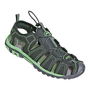 ALTUS 男式63000透明 co71041凉鞋–黑色/绿色,尺码41