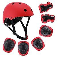 Szulight 儿童防护装备套装可调节头盔膝盖护肘护腕垫适合 3-8 岁幼儿男孩女孩,滑板滑板滑板车自行车。