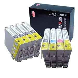 壹诺 爱普生 EPSON Stylus C67/C87/CX3700/CX4100/CX4700 打印机墨盒 5黑3彩