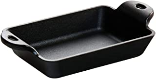 Lodge 铸铁 10 盎司长方形迷你服务器 黑色 10 盎司 HMSRC