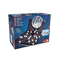 Noris 606150493 Bingotrommel 包括芯片,90个球和12张宾果卡,全家游戏,适合6岁以上儿童