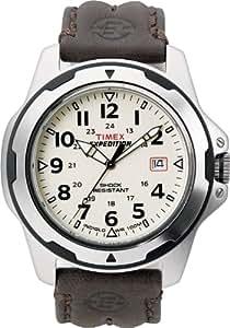 TIMEX 天美时 美国品牌 户外三针系列 石英手表 男士腕表 T49261 (拉丝处理表壳 快调日历功能 真皮表带 )