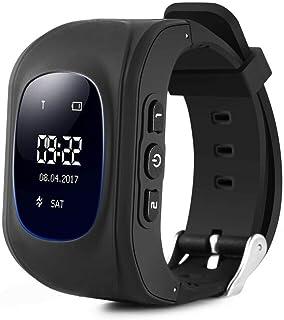 Mandorra Q50 GPS 儿童男孩女孩男孩女孩手表婴儿智能手表 SOS 呼叫定位寻找器定位追踪器防丢失监视器智能手表 新年 黑色
