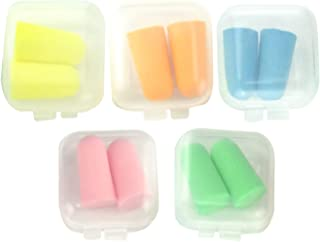Honbay 5 对 10 个单独包装耳塞软泡沫听力保护耳塞适合耳朵睡觉打扮音乐会音乐家旅行