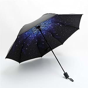 Yandex 防晒小黑伞防紫外线伞晴雨伞单层遮阳伞创意太阳伞 (星空)