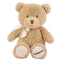 GUND Amazon 定制款 我的第一只泰迪熊毛绒玩具-高10寸(25cm)浅棕色(亚马逊进口直采,美国品牌)