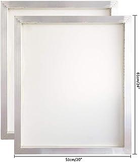 铝丝网印刷丝网印刷 50.8 x 60.96 厘米框架-160 白色网面 2 PCS YLZSYWB5161160