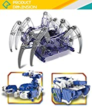 Kid Stuff 3 合 1 蜘蛛和太阳能机器人构建玩具