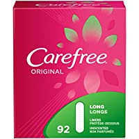 Carefree Original Pantiliners, Unscented, Long, 92 Count