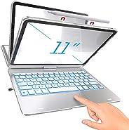 TYPECASE Touch - iPad Pro 11 保护套 2020 带键盘和触摸板 - 魔术键盘风格触控板和智能背光键,适用于 1st & 2nd Gen 11 英寸 iPad 2018-2020,兼容