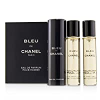 Chanel 香奈儿 Bleu De Chanel Eau De Parfum Refillable Travel Spray 3x20ml