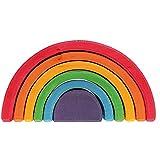 GRIMM 彩虹色拱形积木 大