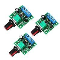 WayinTop 3 件 PWM 低电压电机速度控制器 DC 1.8V 3V 5V 6V 12V 2A 1803BK 1803B 可调驱动器开关带速度控制旋钮(3 件装)