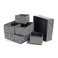 Sinrextraonry 面料梳妆台抽屉隔板6件套衣柜整理柜可折叠储物盒适用于袜子内衣文胸领带玩具