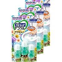 【批量购买】蓝红装饰 厕所 马桶内侧 防止香气和污垢附着的花瓣凝胶 清爽森林和花香 约30天份×3包