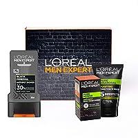 L'Oréal 歐萊雅 男士控油保濕系列套裝,包括沐浴露300ml+保濕霜50ml+潔面膏100mL