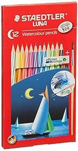 Staedtler 施德楼 LUNA水溶彩色铅笔 12色绘画专用彩铅137 10 C12