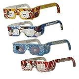 儿童圣诞眼镜 - 假日* (TM) - 12 双 - 4 种样式 - 雪花、雪人、驯鹿和圣诞老人