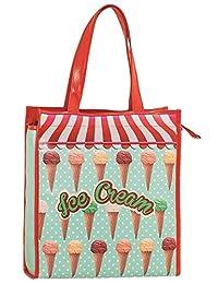 Factory CR Shopping Bag 35 x 39 x 11 cm Ice Cream Fabric and Beach Bag, 40 cm 多种颜色