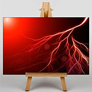 Canvas Print Abstract Lightening No.2 - Various Sizes